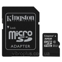 Карта памяти micro-SD 32Gb Kingston Canvas Select class 10 (adapter SD) UHS-1
